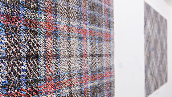 Chinese artist's photomontages weave gorgeous plaid patterns