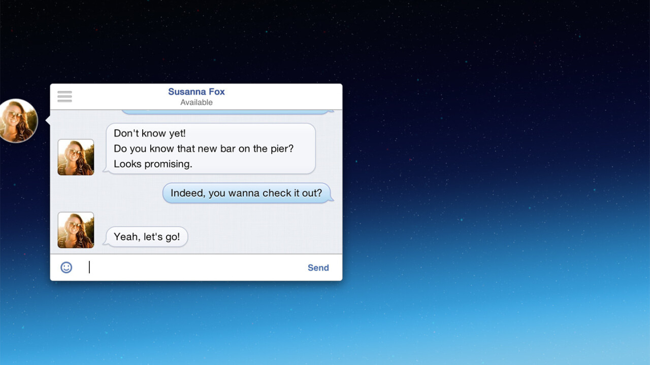 Get Facebook Chat Heads on OS X with this free app