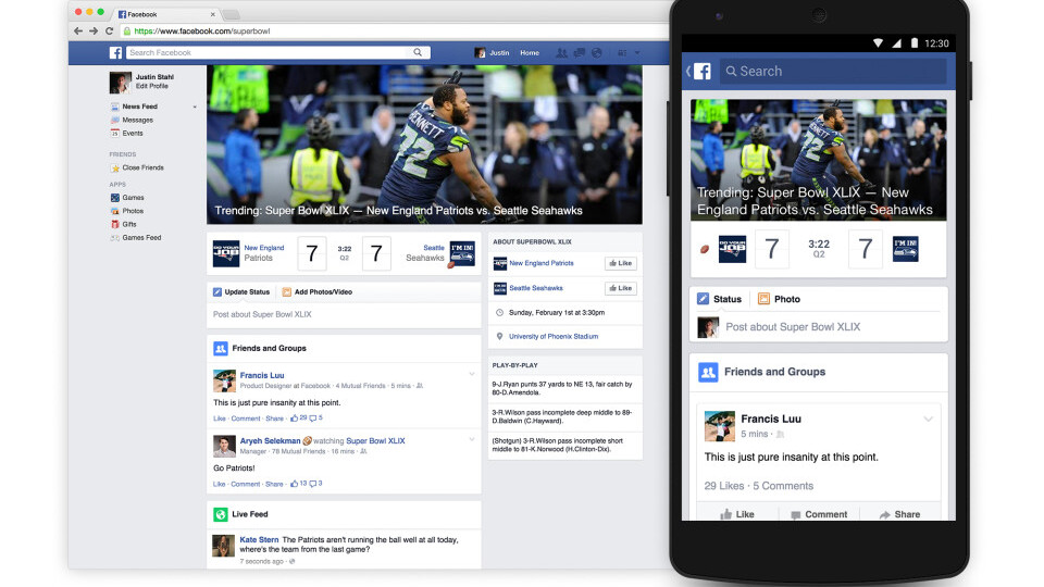 Facebook now has a dedicated Super Bowl page