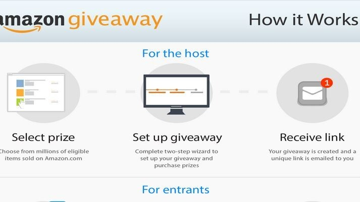 Amazon's Giveaway tool lets anyone create a contest