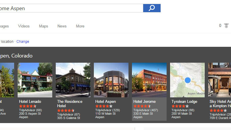 Bing now lets you order food and book hotels directly from search results