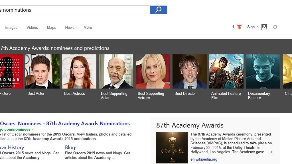 Bing predicts 'Birdman' will win an Oscar for Best Picture this year