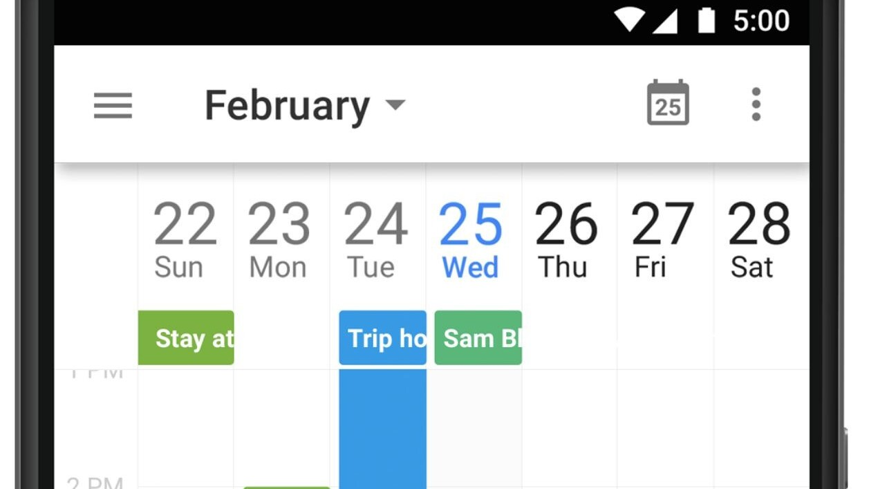 Google updates Android Calendar app with 7-day week view, Drive integration and more
