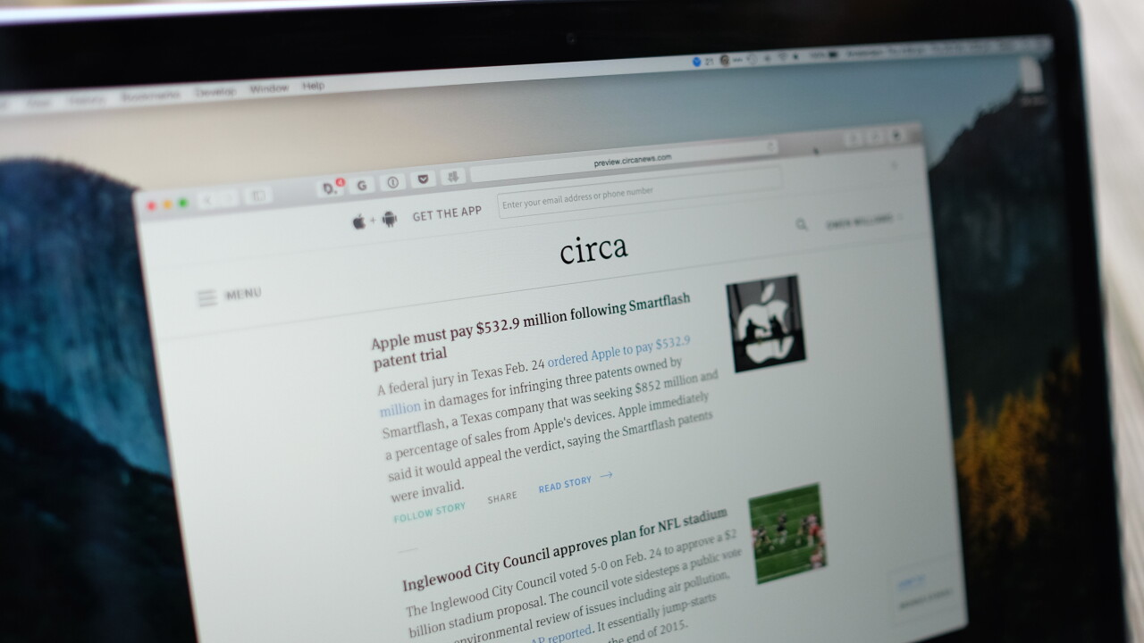 Circa's time saving news breaks free from the app, now on the Web too