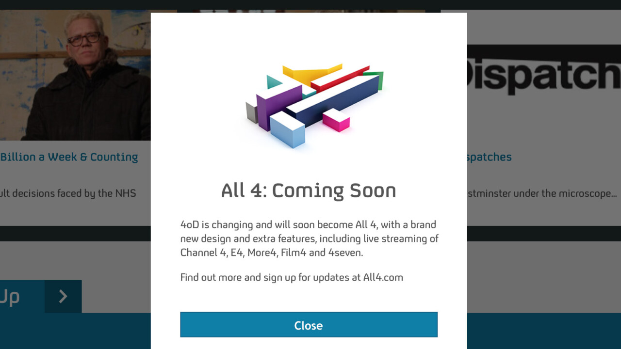 Channel 4 updates 4oD on iOS and teases All 4 live streaming
