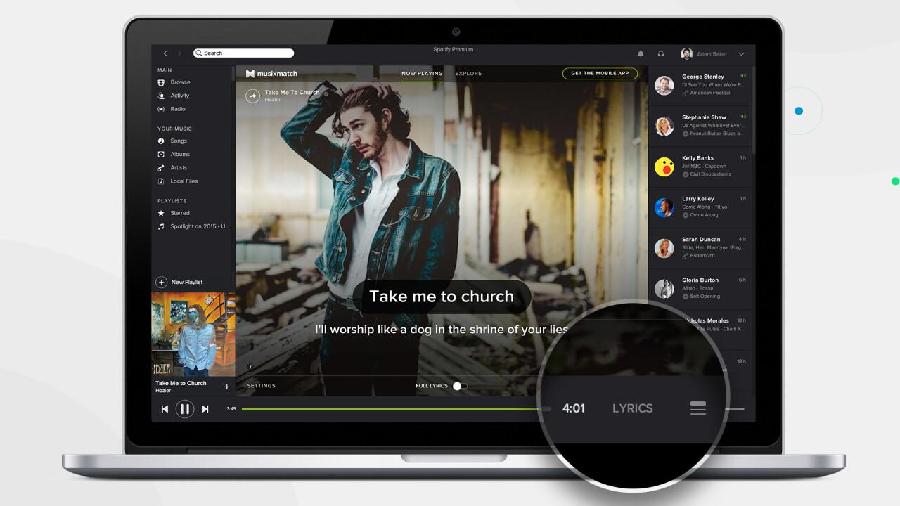 Spotify desktop update brings Musixmatch integration for full song lyrics