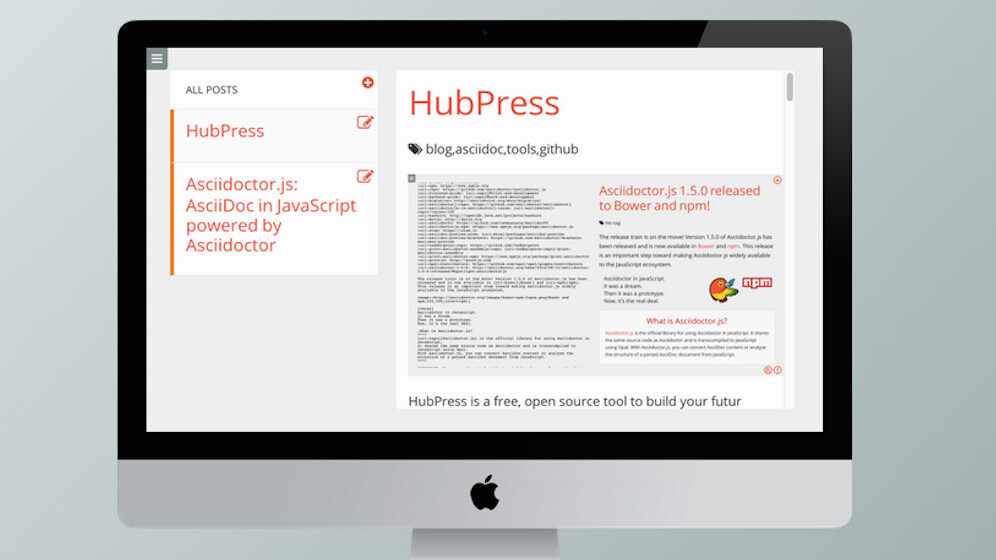HubPress makes it easy to build your blog on GitHub