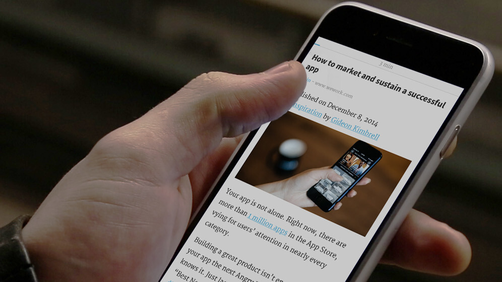 Short for iOS fills your idle moments with articles you can read in 10 minutes or less