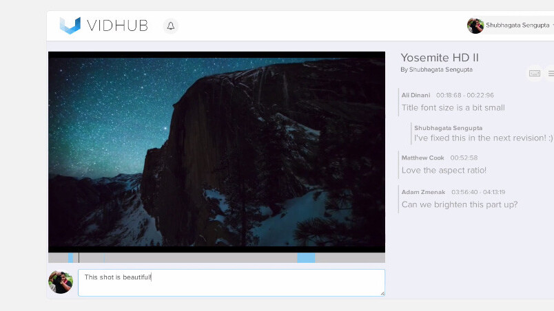 Vidhub makes it easy to get client feedback on your videos