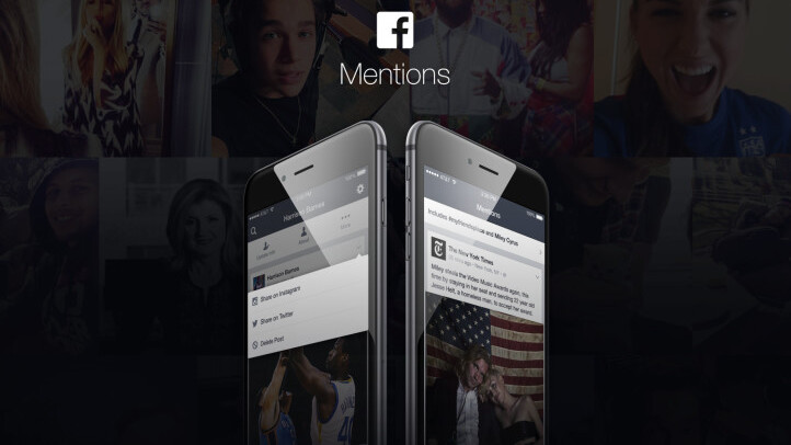 Facebook's Mentions app for celebrities adds sharing to Twitter and Instagram