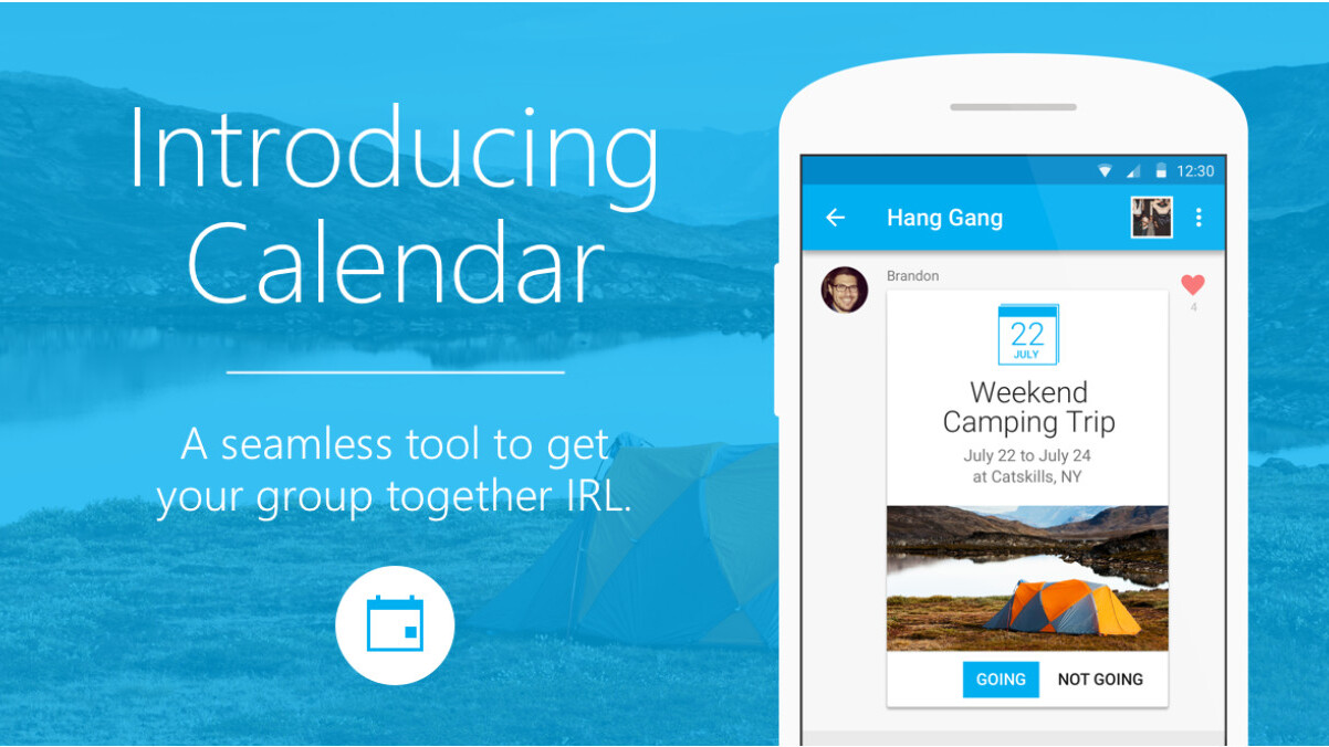 GroupMe adds a new Calendar feature to help groups organize events