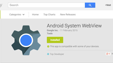 Google launches a beta channel for Android WebView on Lollipop
