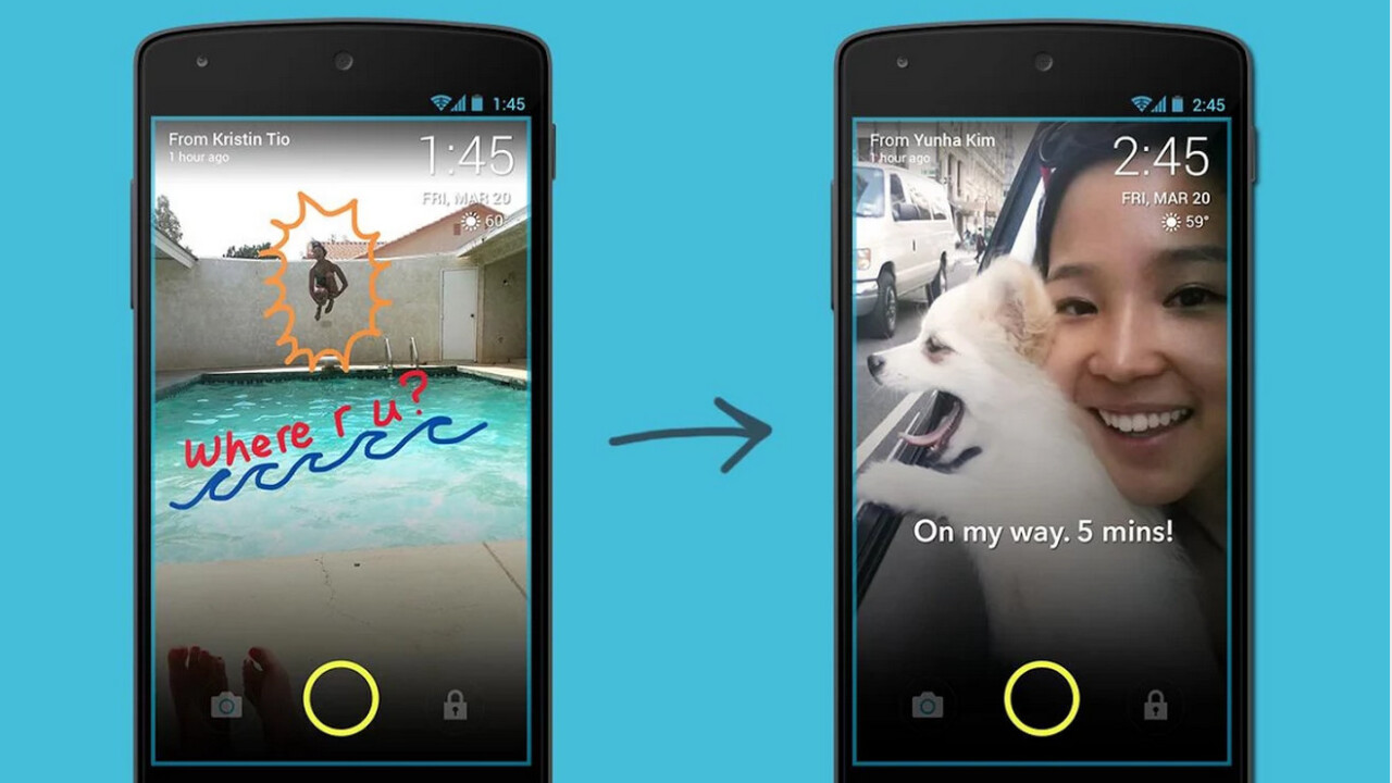 ScreenPop lets you send picture messages straight to your friend's lockscreen
