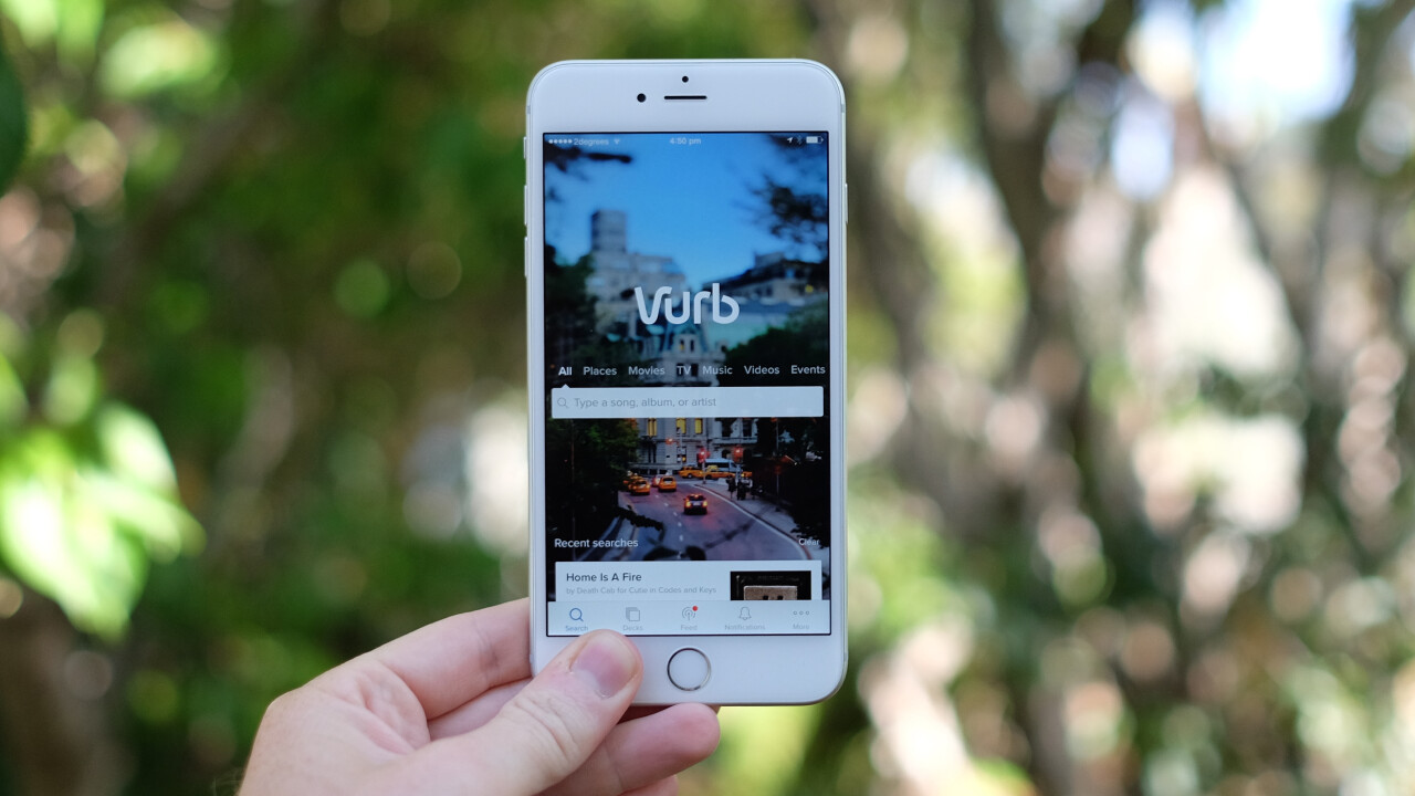 Vurb is a mobile search engine that helps you get things done without jumping between apps