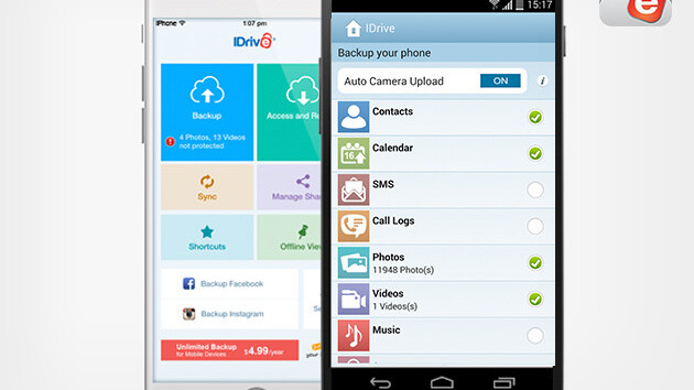 Get a Lifetime Of Unlimited Mobile Backup From IDrive for just $10