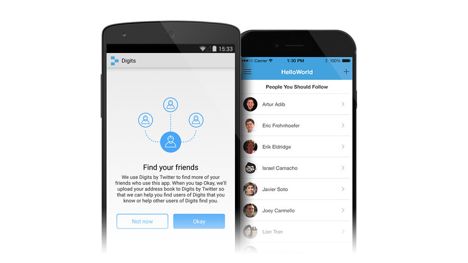 Twitter launches friend-finding and two-factor verification for Digits