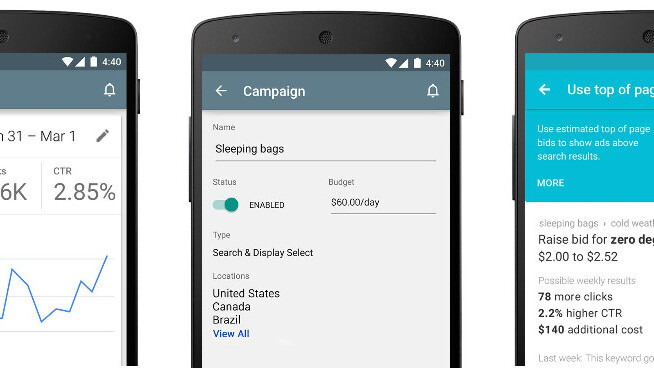 Google's AdWords Android app is now available globally