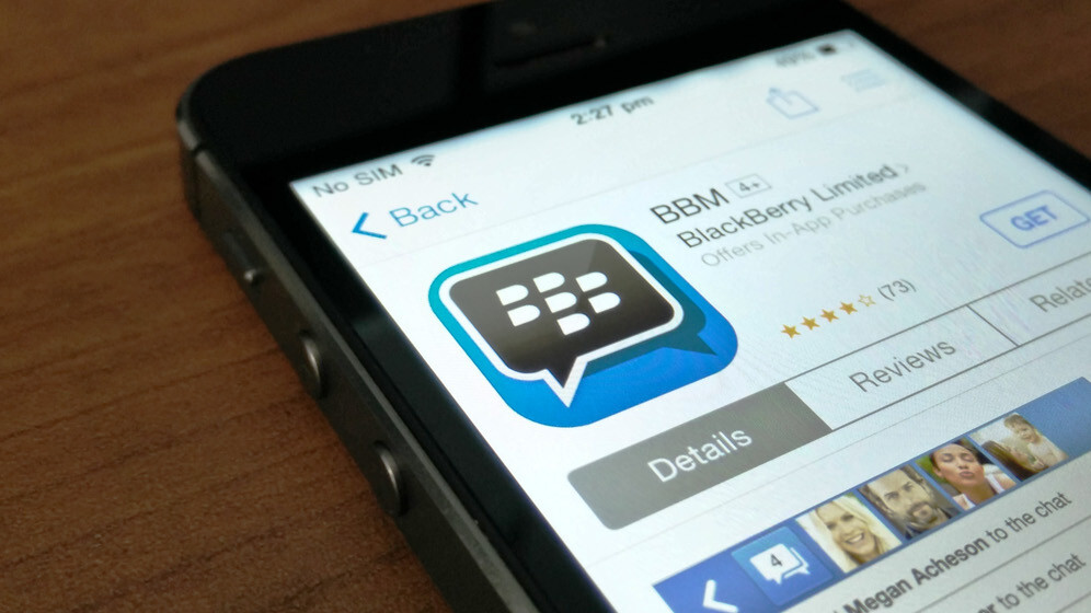 BlackBerry updates BBM with custom PINs, ad-free subscriptions and Android Wear support