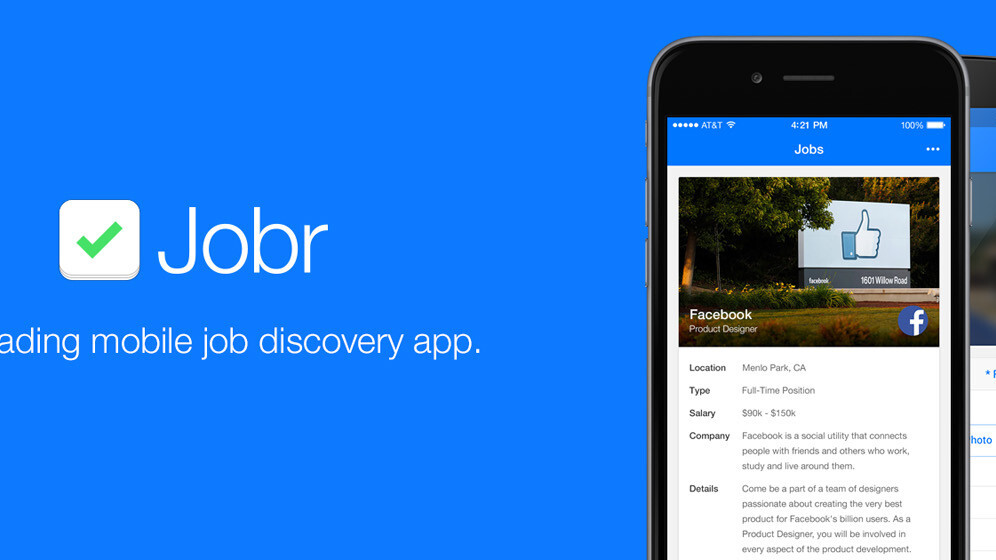 Jobr updates its job discovery app for iPhone and launches on Android
