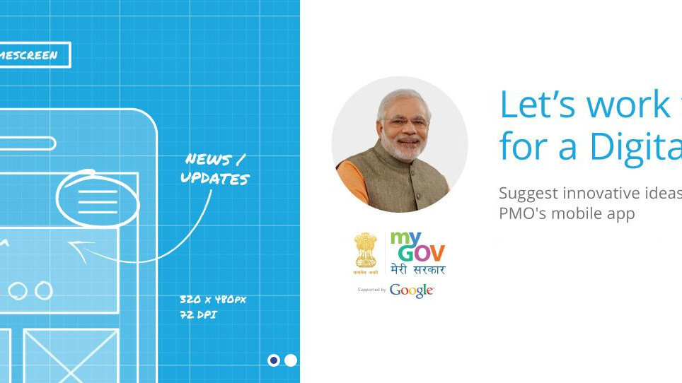 Google partners with the Indian Prime Minister's Office for an app contest