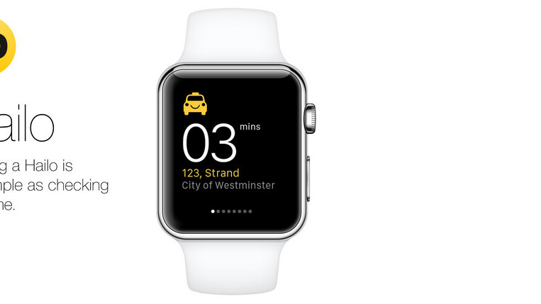 Hailo reveals its Apple Watch app but Uber got stage time at Apple's event