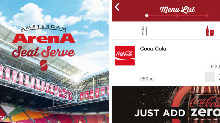 SeatServe will be delivering to seats in the Amsterdam Arena from tomorrow
