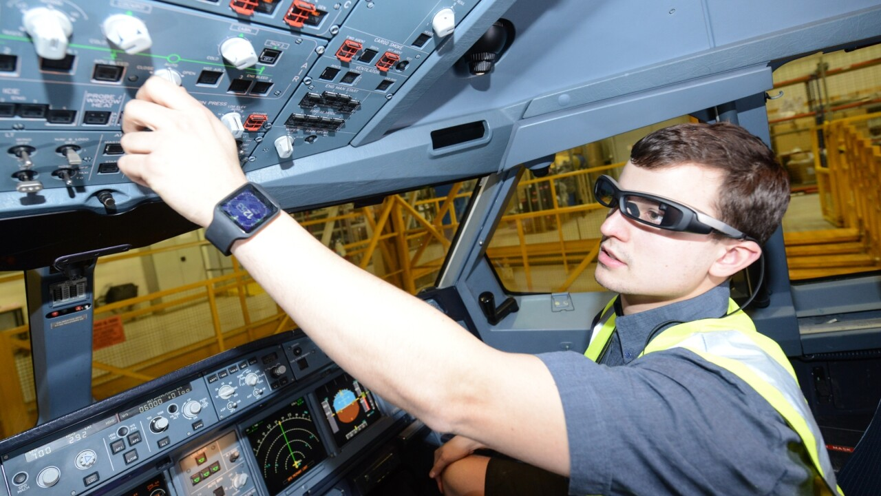 Virgin Atlantic's engineers are trialling Sony's smartglasses and smartwatches