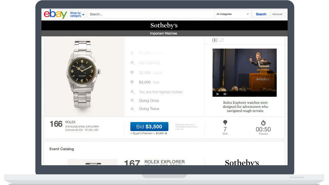 eBay teams up with Sotheby's to livestream its art and antiques auctions