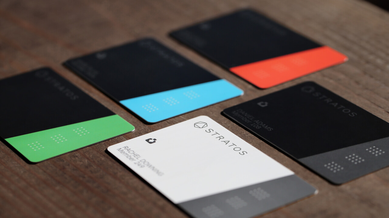 Stratos' Bluetooth connected payment card works everywhere, available this April