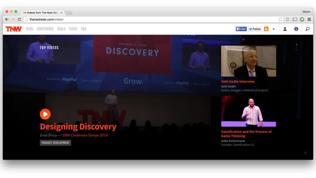 Introducing TNW Video: A new way to explore great talks from our conferences