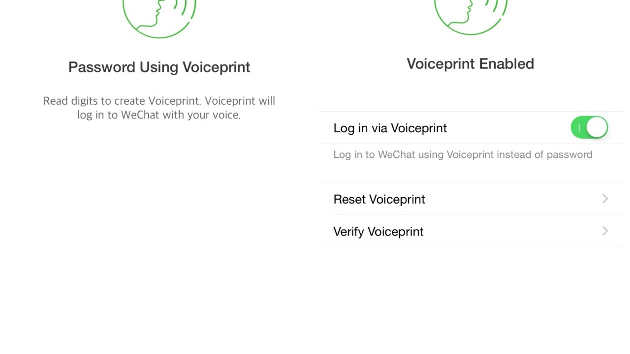 WeChat on iOS now lets you log in using just your voice