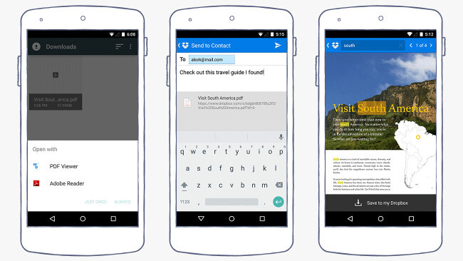 Dropbox for Android can now view PDFs in-app and find text in documents