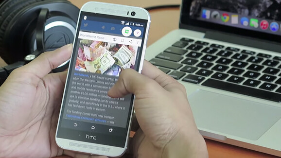 Flynx Android browser app works in the background to line up your links
