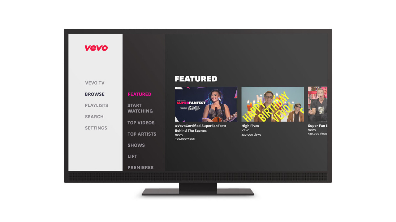 Vevo for PS4 and PS3 is launching in Europe, Australia and New Zealand today