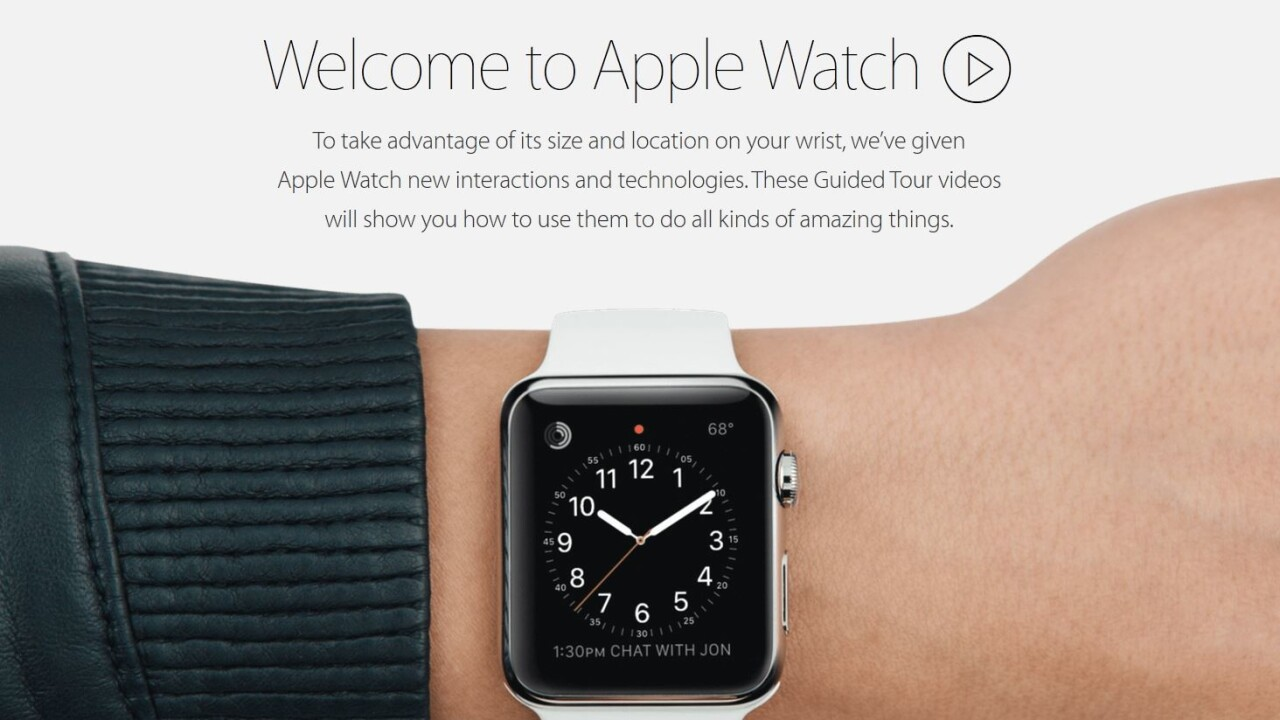 Apple kicks off the Apple Watch learning curve with guided tour videos