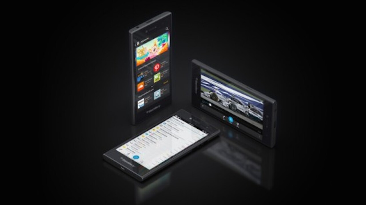 The BlackBerry Leap is now rolling out globally for 'young power professionals,' seriously