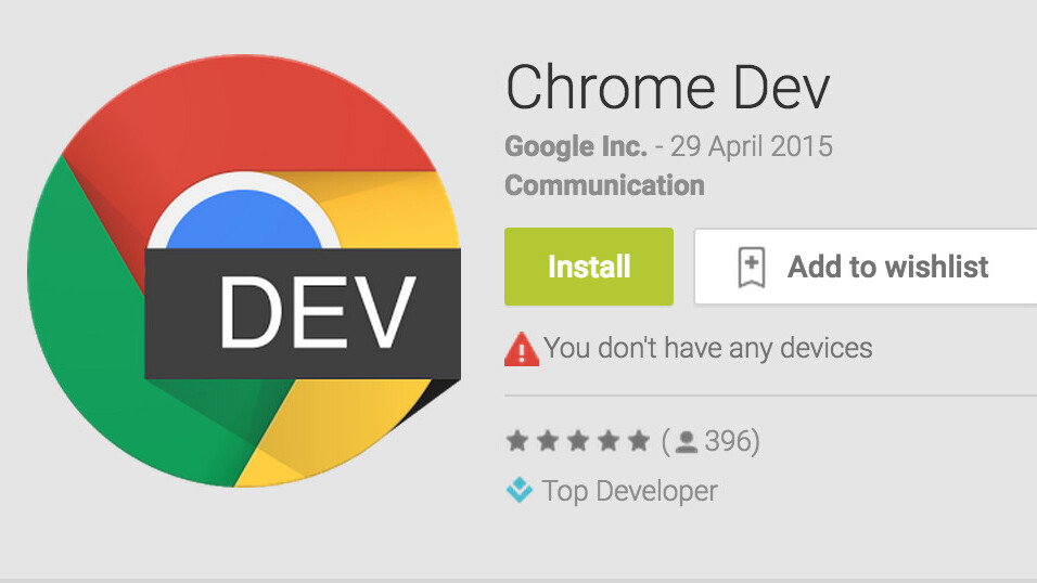 Get an early look at new Chrome features on Android as Google releases the developer version to all