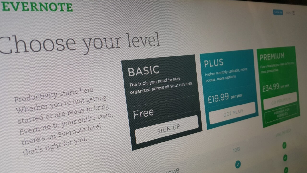 Evernote tweaks pricing to introduce more affordable premium tiers