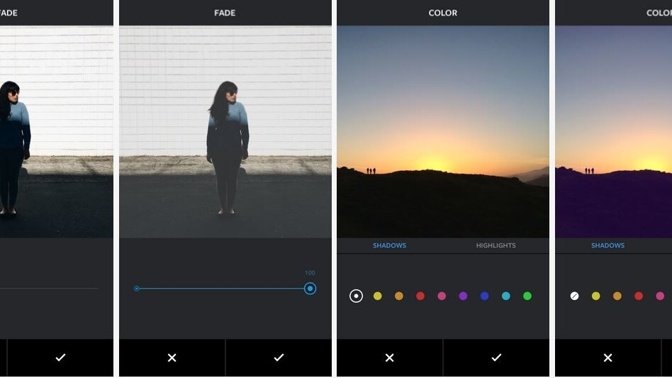 Instagram launches new editing tools: Fade and Color