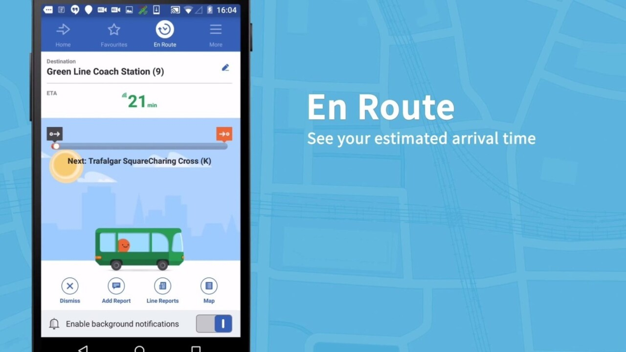 Public transit guide Moovit updates on Android with faster navigation and accurate arrival times