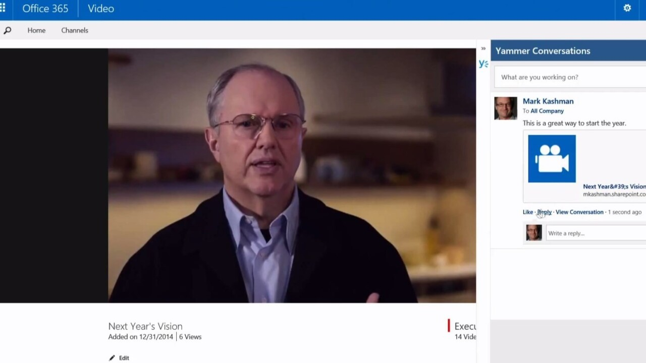 Microsoft rolls out Office 365 Video for better internal communications on desktop and mobile