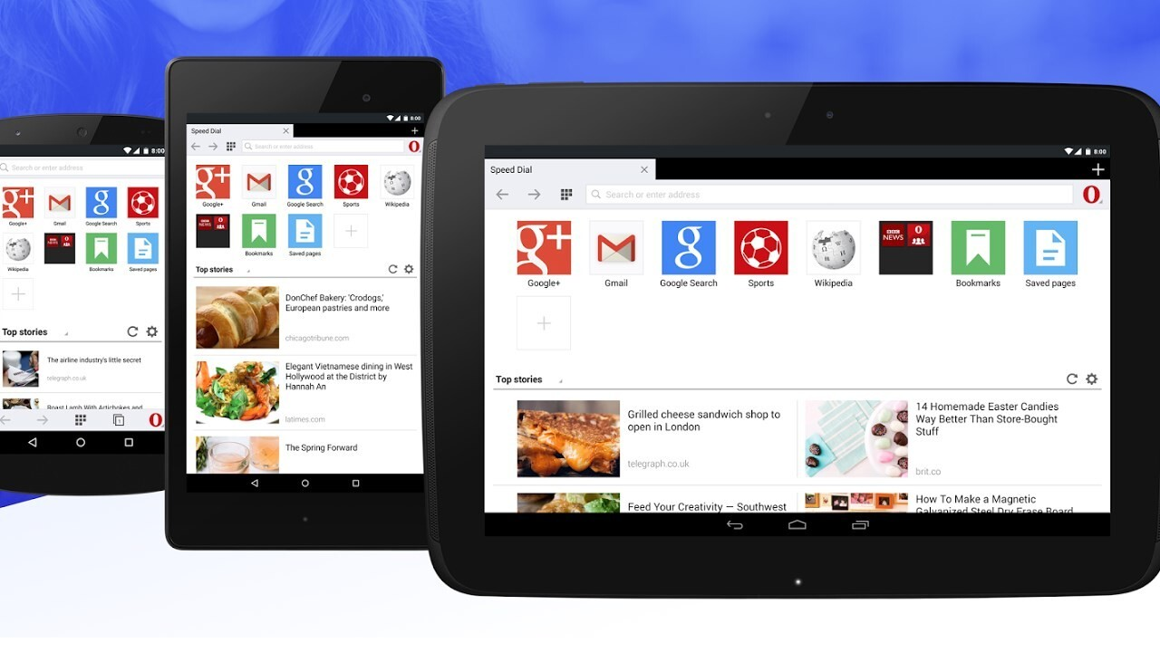 Opera Mini for Android just got a lot better on larger devices