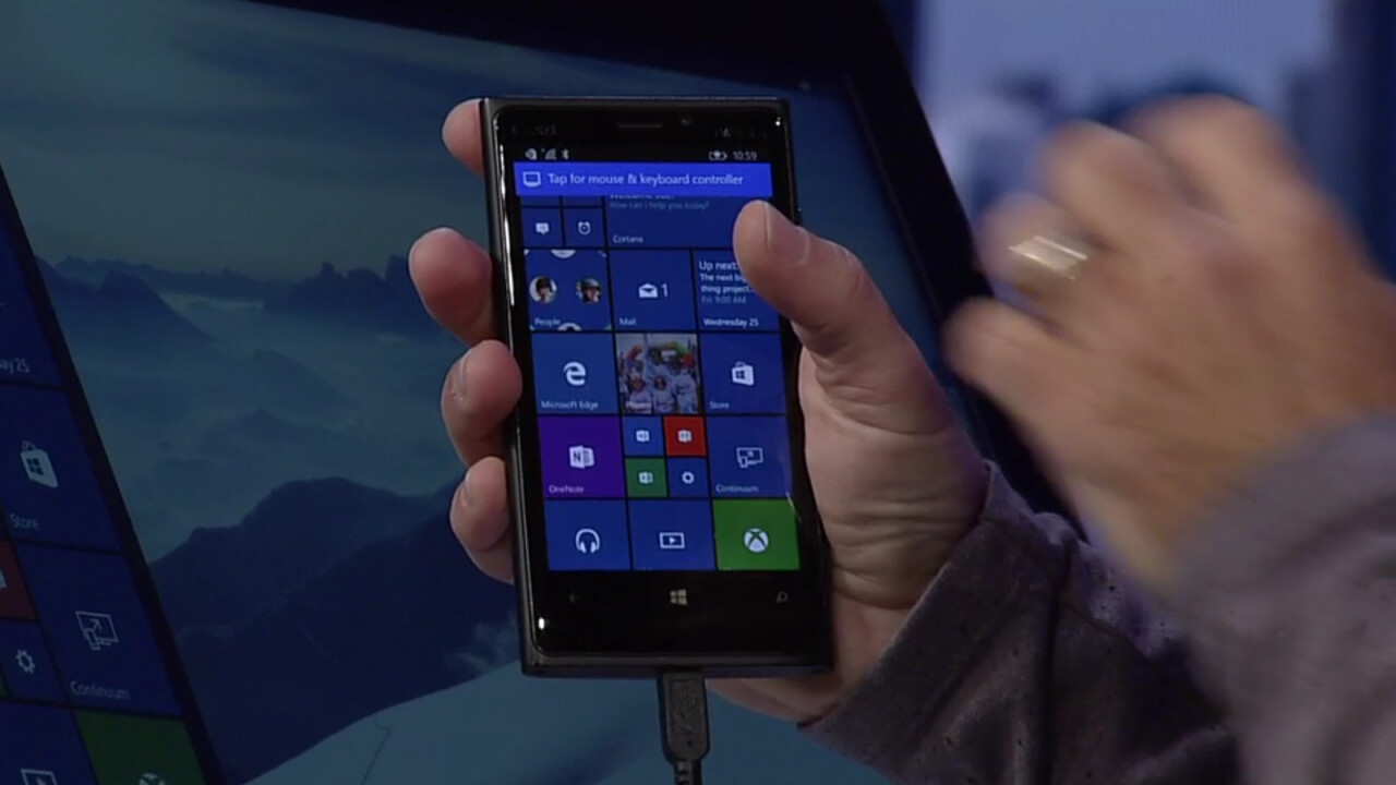 Windows 10 will let you use your phone as a full computer… sort of
