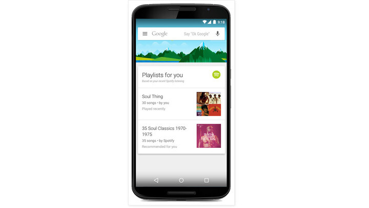 Google Now for Android adds Spotify playlist recommendations