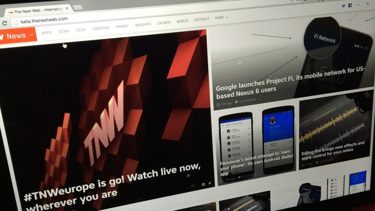 The NEXT Next Web: Try our big redesign right now