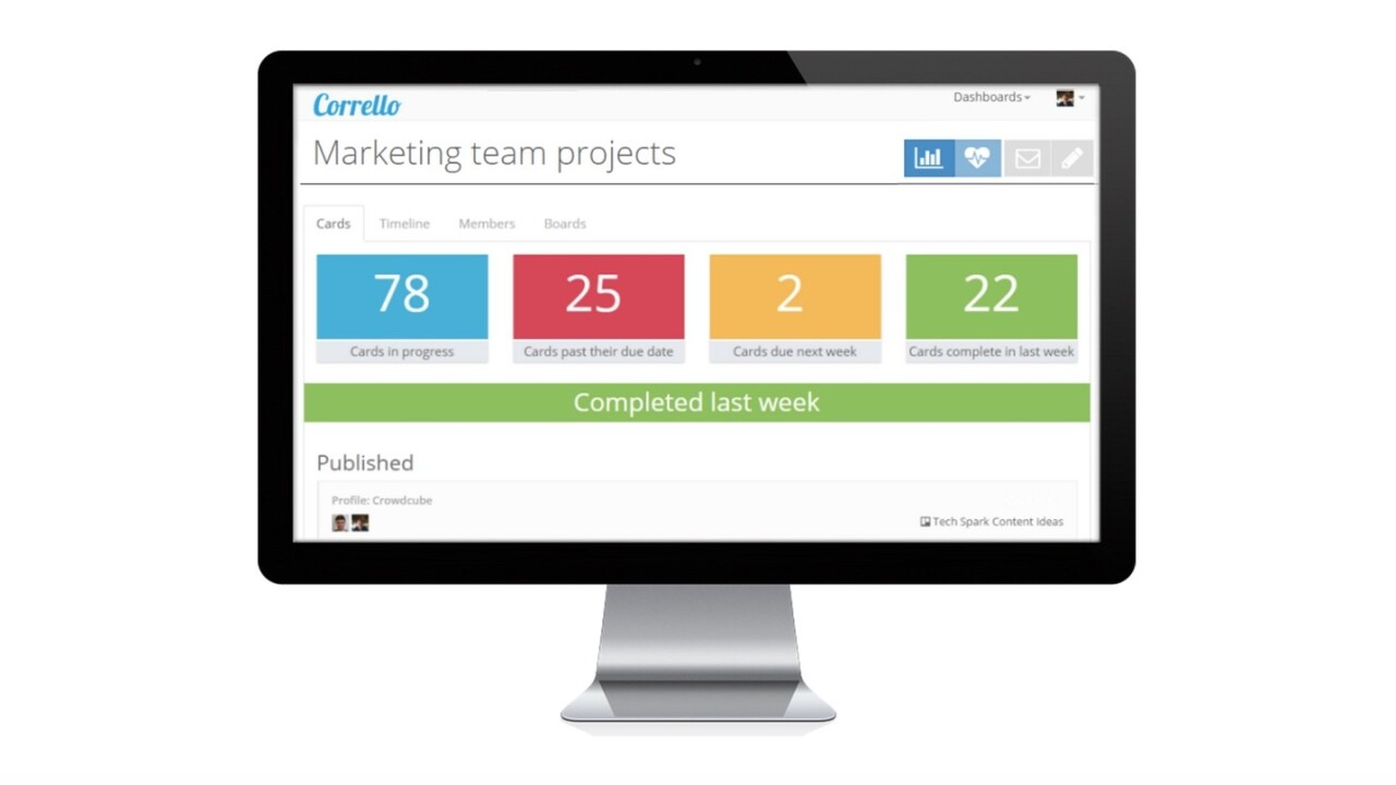 Corrello gives project managers powerful dashboards in Trello