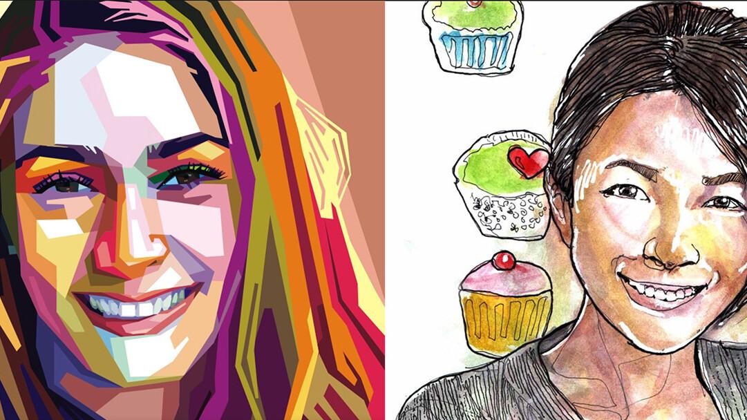Fiverr Faces lets you order custom designed portraits based on your selfies