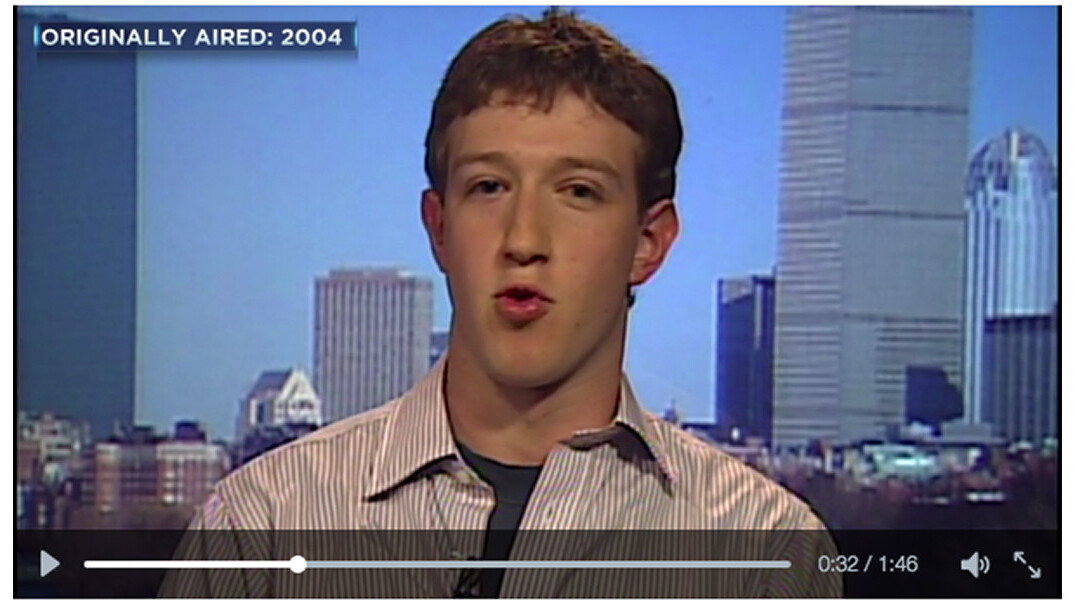 A young Mark Zuckerberg talks about some social network