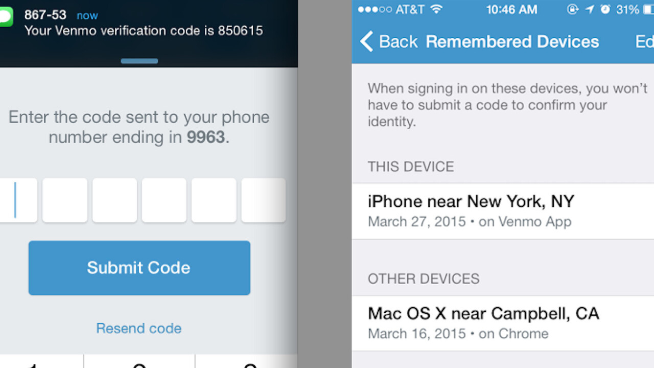 Venmo finally gets two-factor authentication for iOS, Android and the Web