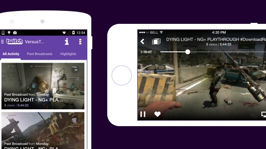 Twitch brings video-on-demand game content to its iOS and Android apps